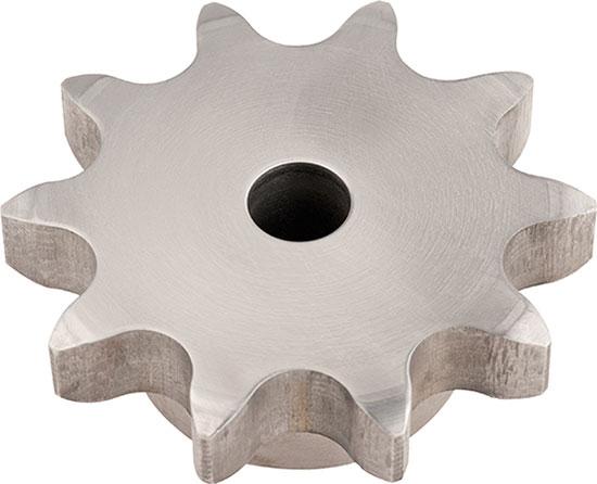 Kettenrad aus Material C45 - Simplex mit Vorbohrung