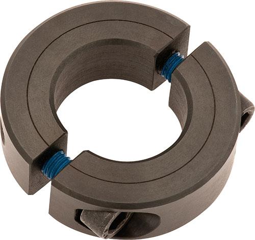 Klemmring geteilt - Material Stahl brüniert