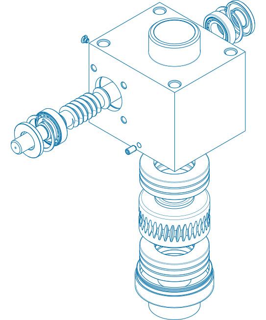 Spindelhubgetriebe - Produktskizze